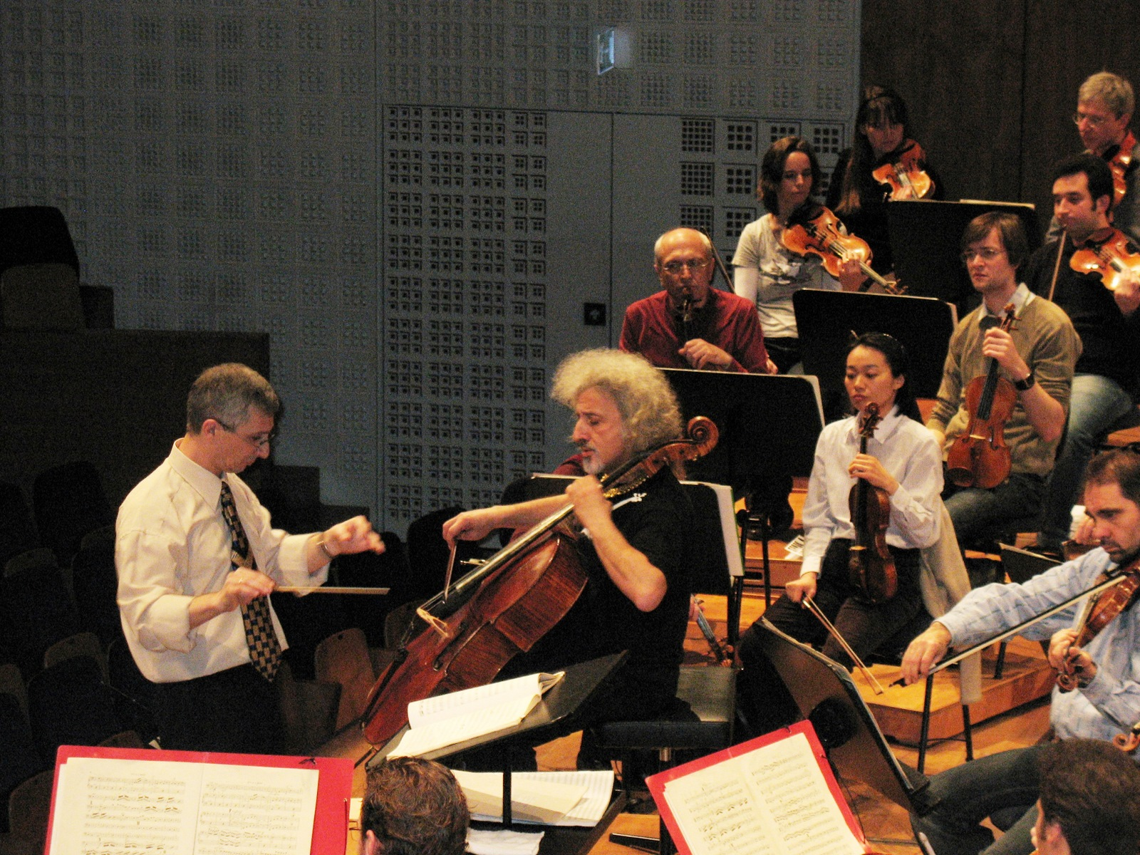 rehearsal of Cello Concerto